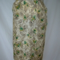 After restoration, this is the new skirt created from the dress