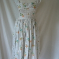 We unpicked and realigned the original panel on the Horrockses dress