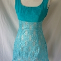 vintage-1970-turquoise-dress-after-shortening