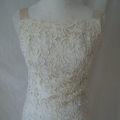 front of vintage weddign dress after alterations