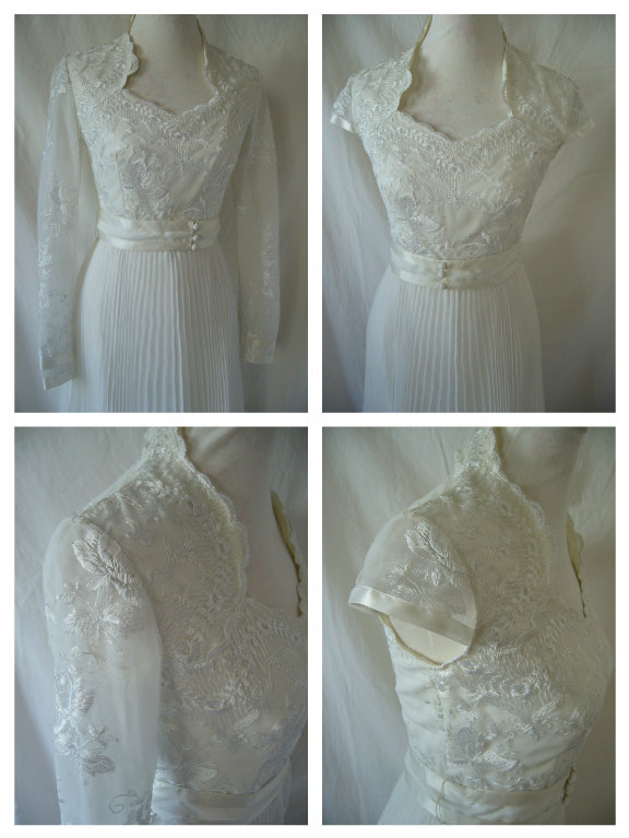 1970s Does 1940s Vintage Wedding Dress Sleeve Alterations