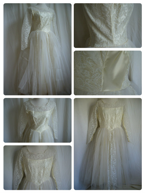 1950s Vintage Wedding Dress Let Out With Panels