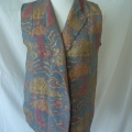 This waistcoat needed sleeves added to be turned into a jacket